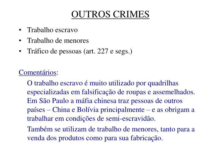 OUTROS CRIMES