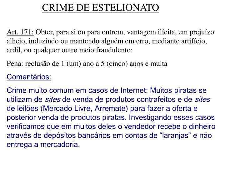 CRIME DE ESTELIONATO