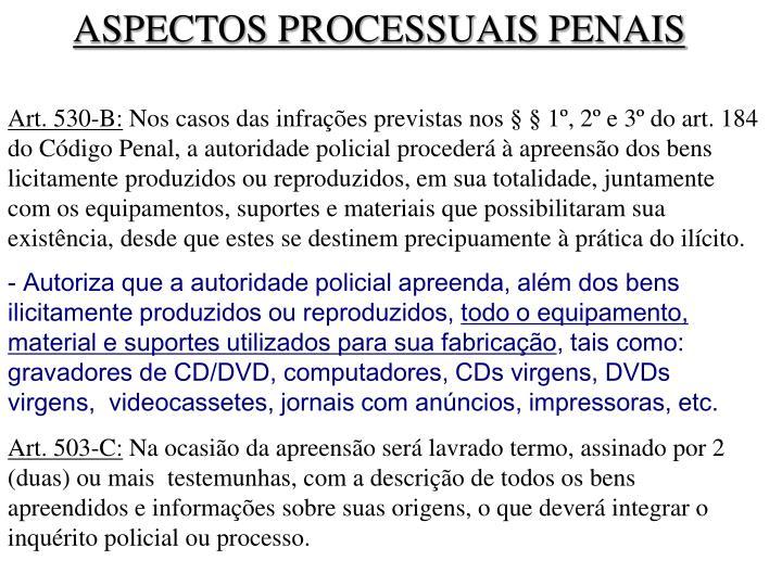 ASPECTOS PROCESSUAIS PENAIS