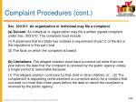 complaint procedures cont1