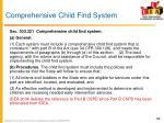 comprehensive child find system