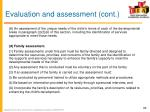 evaluation and assessment cont2