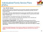 individualized family service plans ifsps