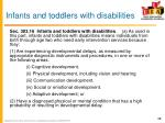 infants and toddlers with disabilities