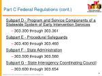part c federal regulations cont