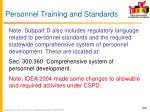 personnel training and standards