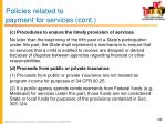 policies related to payment for services cont1