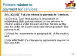 policies related to payment for services