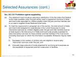 selected assurances cont