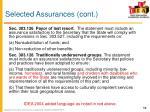 selected assurances cont1
