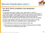 service coordination cont