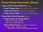 sinyal sinyal elementer dasar