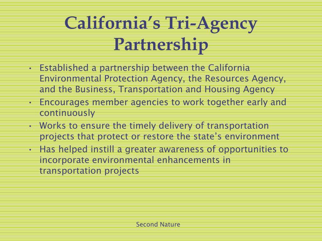 California's Tri-Agency Partnership