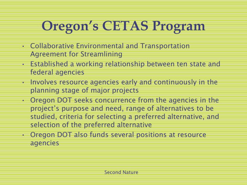 Oregon's CETAS Program