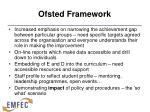 ofsted framework