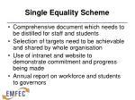 single equality scheme