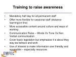 training to raise awareness