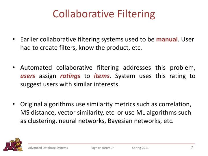 Collaborative Filtering
