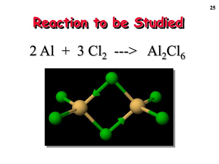 Reaction to be Studied