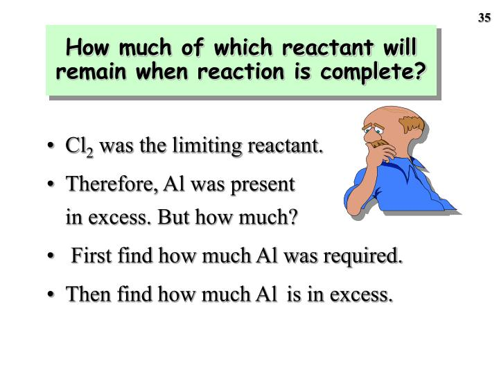 How much of which reactant will remain when reaction is complete?