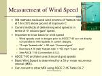 measurement of wind speed