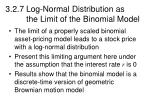 3 2 7 log normal distribution as the limit of the binomial model