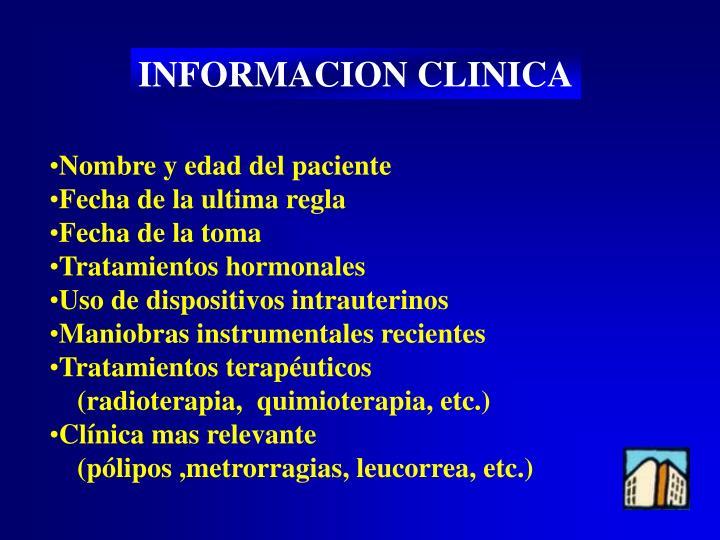 INFORMACION CLINICA
