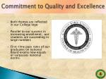 commitment to quality and excellence