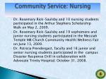 community service nursing