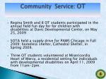 community service ot