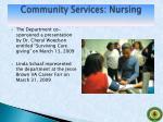 community services nursing
