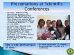 presentations at scientific conferences6