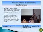 presentations at scientific conferences7
