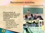 recruitment activities