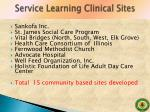 service learning clinical sites1