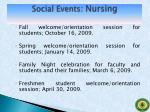 social events nursing