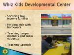 whiz kids developmental center