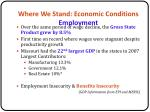 where we stand economic conditions employment