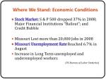 where we stand economic conditions