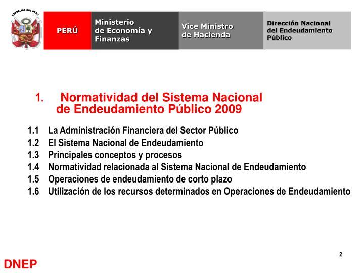 1 normatividad del sistema nacional de endeudamiento p blico 2009