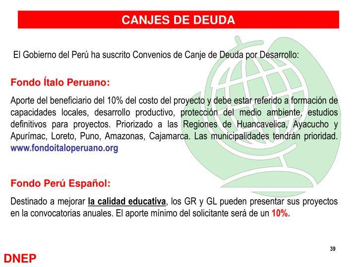 CANJES DE DEUDA