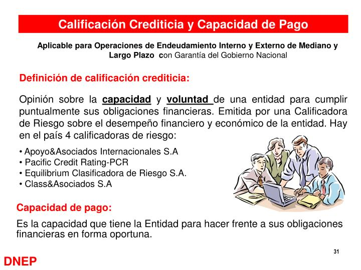 Calificación Crediticia y Capacidad de Pago
