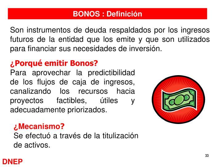 BONOS : Definición
