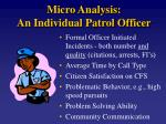 micro analysis an individual patrol officer