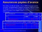 assurances pay es d avance