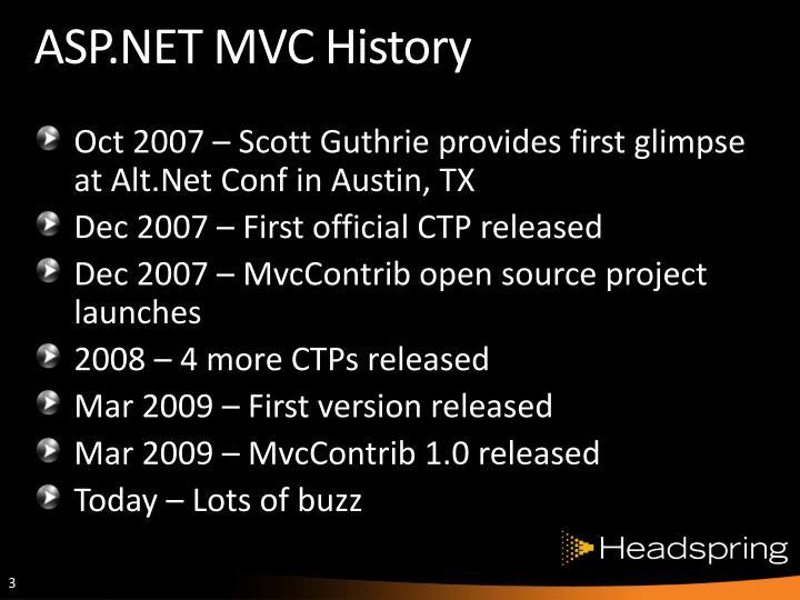 Asp net mvc history