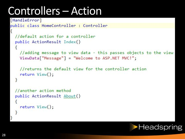 Controllers – Action
