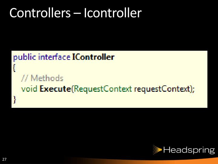 Controllers –
