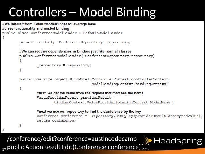 Controllers – Model Binding