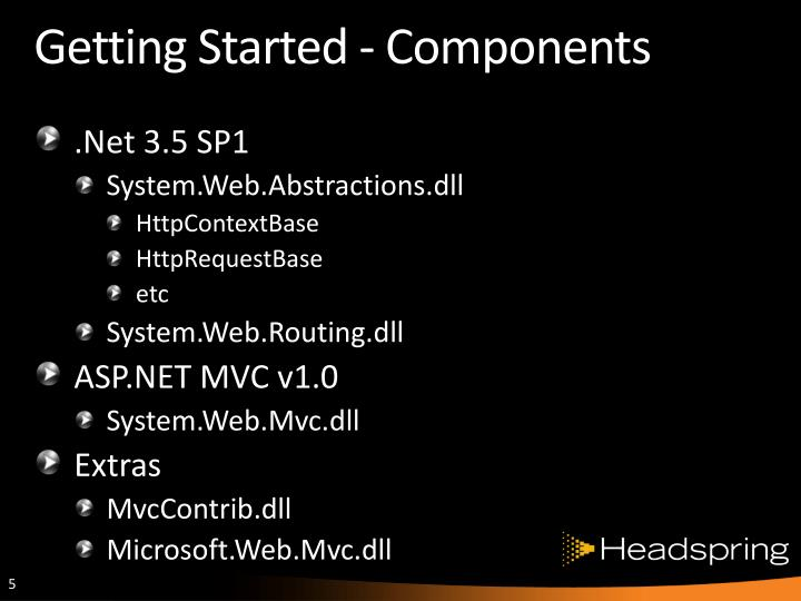 Getting Started - Components